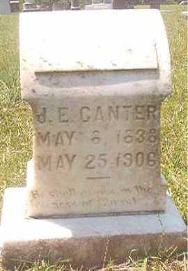 CANTER, J E - Pike County, Arkansas   J E CANTER - Arkansas Gravestone Photos