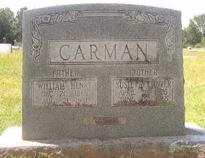 CARMAN, WILLIAM HENRY - Pike County, Arkansas | WILLIAM HENRY CARMAN - Arkansas Gravestone Photos