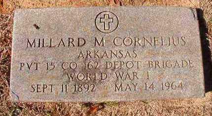 CORNELIUS (VETERAN WWI), MILLARD M - Pike County, Arkansas   MILLARD M CORNELIUS (VETERAN WWI) - Arkansas Gravestone Photos