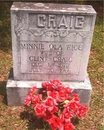 CRAIG, MINNIE OLA - Pike County, Arkansas | MINNIE OLA CRAIG - Arkansas Gravestone Photos