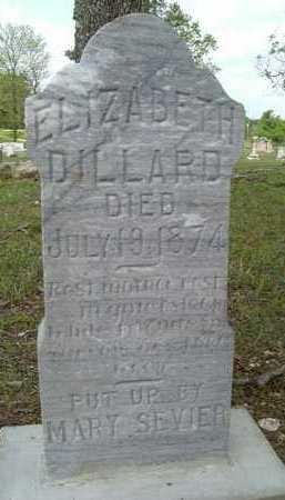 DILLARD, ELIZABETH - Pike County, Arkansas | ELIZABETH DILLARD - Arkansas Gravestone Photos