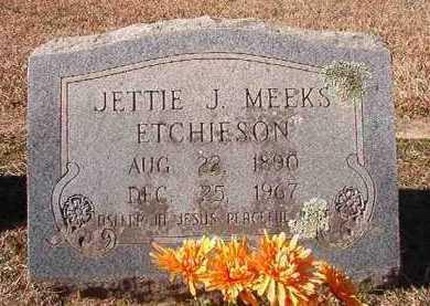 ETCHIESON, JETTIE J - Pike County, Arkansas | JETTIE J ETCHIESON - Arkansas Gravestone Photos