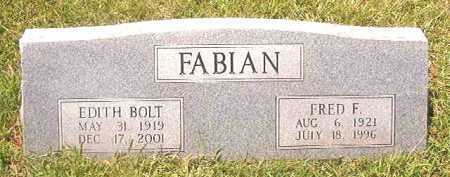 FABIAN, EDITH - Pike County, Arkansas | EDITH FABIAN - Arkansas Gravestone Photos