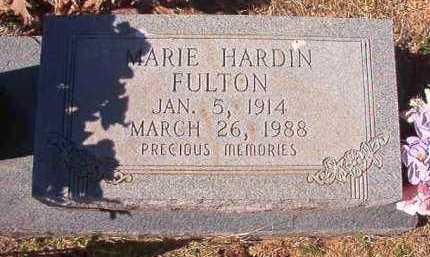 HARDIN FULTON, MARIE - Pike County, Arkansas | MARIE HARDIN FULTON - Arkansas Gravestone Photos