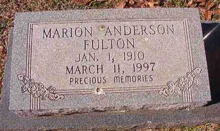 FULTON, MARION ANDERSON - Pike County, Arkansas | MARION ANDERSON FULTON - Arkansas Gravestone Photos