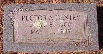 GENTRY, RECTOR A - Pike County, Arkansas   RECTOR A GENTRY - Arkansas Gravestone Photos