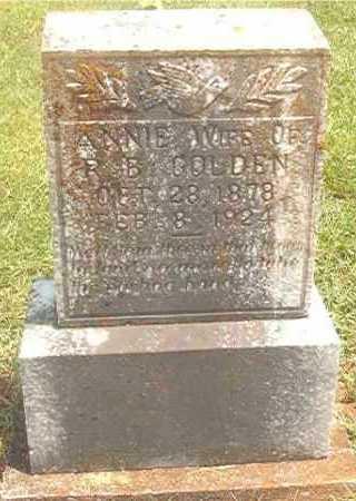GOLDEN, ANNIE - Pike County, Arkansas   ANNIE GOLDEN - Arkansas Gravestone Photos