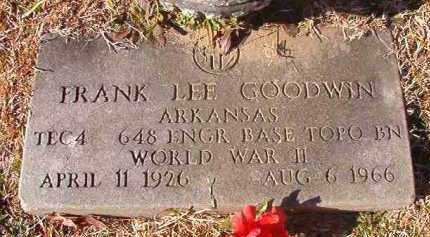 GOODWIN (VETERAN WWII), FRANK LEE - Pike County, Arkansas | FRANK LEE GOODWIN (VETERAN WWII) - Arkansas Gravestone Photos