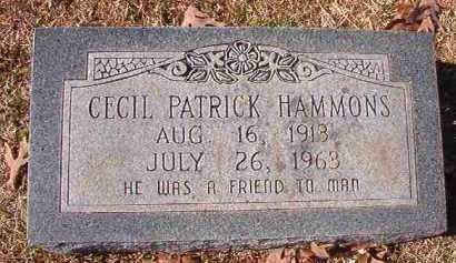 HAMMONS, CECIL PATRICK - Pike County, Arkansas | CECIL PATRICK HAMMONS - Arkansas Gravestone Photos