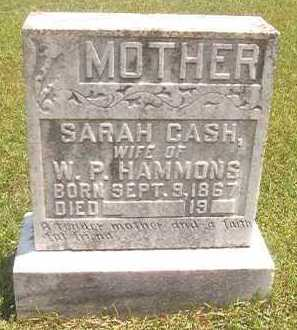 CASH HAMMONS, SARAH - Pike County, Arkansas | SARAH CASH HAMMONS - Arkansas Gravestone Photos