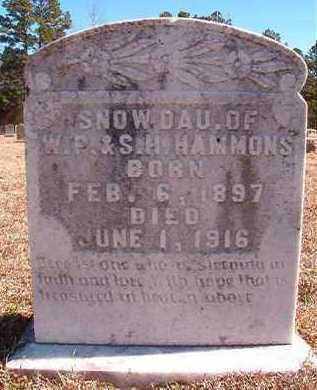 HAMMONS, SNOW - Pike County, Arkansas   SNOW HAMMONS - Arkansas Gravestone Photos