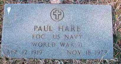 HARE (VETERAN WWII), PAUL - Pike County, Arkansas | PAUL HARE (VETERAN WWII) - Arkansas Gravestone Photos