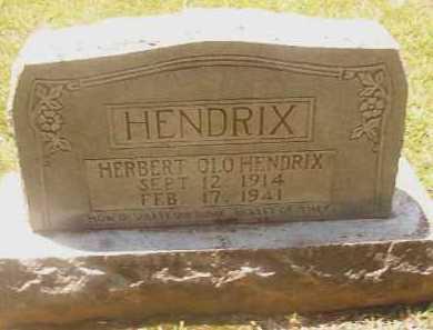 HENDRIX, HERBERT OLO - Pike County, Arkansas | HERBERT OLO HENDRIX - Arkansas Gravestone Photos