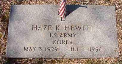 HEWITT (VETERAN KOR), HAZE K - Pike County, Arkansas | HAZE K HEWITT (VETERAN KOR) - Arkansas Gravestone Photos