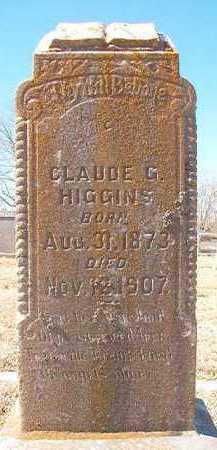HIGGINS, CLAUDE G - Pike County, Arkansas   CLAUDE G HIGGINS - Arkansas Gravestone Photos