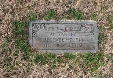 TATUM ALEXANDER, RUTH MAUD - Poinsett County, Arkansas | RUTH MAUD TATUM ALEXANDER - Arkansas Gravestone Photos