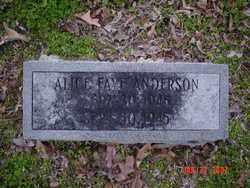 ANDERSON, ALICE FAYE - Poinsett County, Arkansas | ALICE FAYE ANDERSON - Arkansas Gravestone Photos
