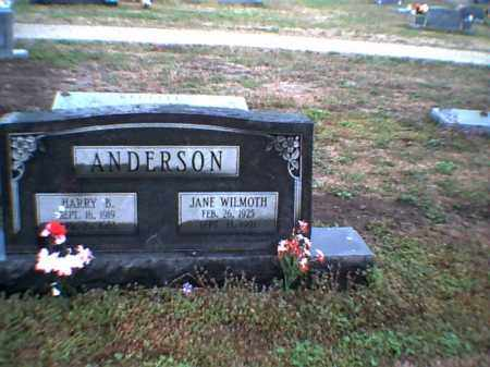 WILMOTH ANDERSON, MARTHA JANE - Poinsett County, Arkansas | MARTHA JANE WILMOTH ANDERSON - Arkansas Gravestone Photos