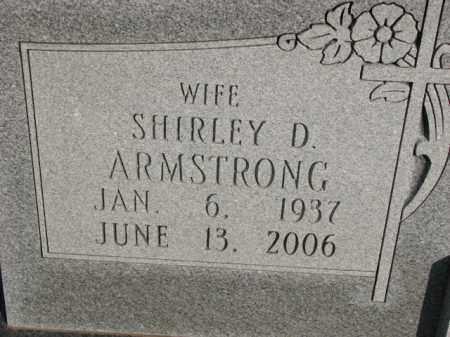 ARMSTRONG, SHIRLEY D. - Poinsett County, Arkansas   SHIRLEY D. ARMSTRONG - Arkansas Gravestone Photos