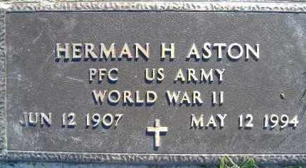 ASTON  (VETERAN WWII), HERMAN H. - Poinsett County, Arkansas | HERMAN H. ASTON  (VETERAN WWII) - Arkansas Gravestone Photos