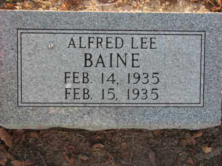 BAINE, ALFRED LEE - Poinsett County, Arkansas   ALFRED LEE BAINE - Arkansas Gravestone Photos