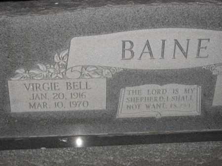 BAINE, VIRGIE BELL - Poinsett County, Arkansas | VIRGIE BELL BAINE - Arkansas Gravestone Photos