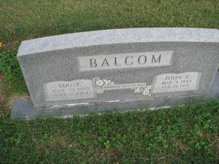 BALCOM, LOU F. - Poinsett County, Arkansas | LOU F. BALCOM - Arkansas Gravestone Photos