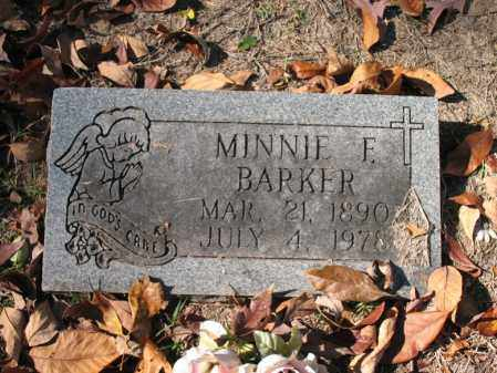 BARKER, MINNIE F - Poinsett County, Arkansas   MINNIE F BARKER - Arkansas Gravestone Photos