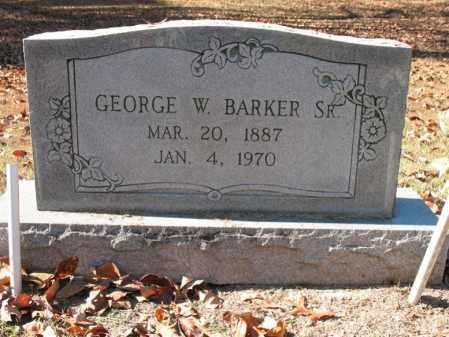 BARKER, SR., GEORGE W - Poinsett County, Arkansas | GEORGE W BARKER, SR. - Arkansas Gravestone Photos