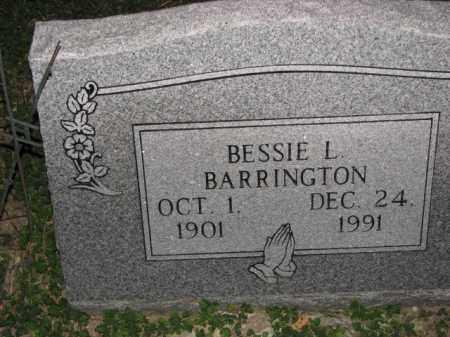 BARRINGTON, BESSIE L. - Poinsett County, Arkansas   BESSIE L. BARRINGTON - Arkansas Gravestone Photos
