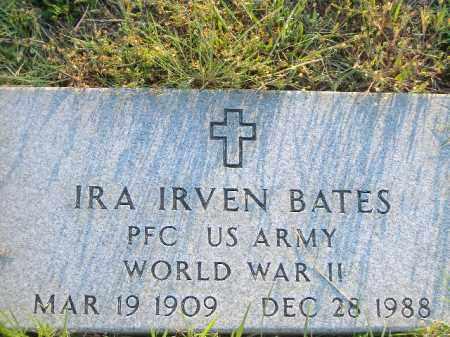 BATES  (VETERAN WWII), IRA IRVEN - Poinsett County, Arkansas   IRA IRVEN BATES  (VETERAN WWII) - Arkansas Gravestone Photos