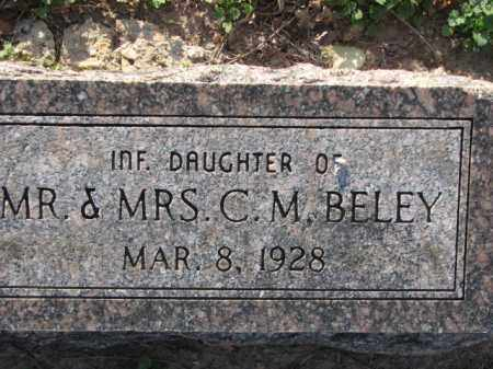 BELEY, INFANT DAUGHTER - Poinsett County, Arkansas | INFANT DAUGHTER BELEY - Arkansas Gravestone Photos
