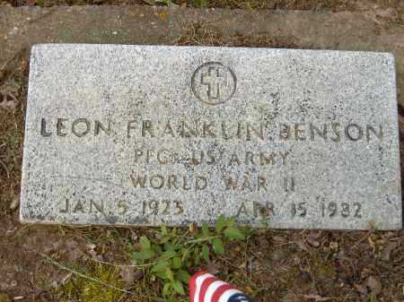 BENSON  (VETERAN WWII), LEON FRANKLIN - Poinsett County, Arkansas | LEON FRANKLIN BENSON  (VETERAN WWII) - Arkansas Gravestone Photos
