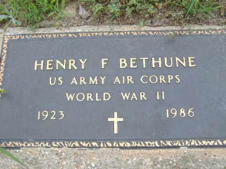 BETHUNE  (VETERAN WWII), HENRY F - Poinsett County, Arkansas   HENRY F BETHUNE  (VETERAN WWII) - Arkansas Gravestone Photos