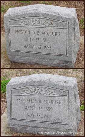 BLACKBURN, PRESTON D - Poinsett County, Arkansas   PRESTON D BLACKBURN - Arkansas Gravestone Photos