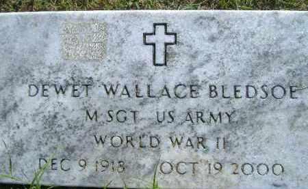 BLEDSOE  (VETERAN WWII), DEWET WALLACE - Poinsett County, Arkansas | DEWET WALLACE BLEDSOE  (VETERAN WWII) - Arkansas Gravestone Photos
