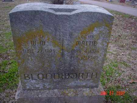 BLOODWORTH, MATTIE - Poinsett County, Arkansas | MATTIE BLOODWORTH - Arkansas Gravestone Photos