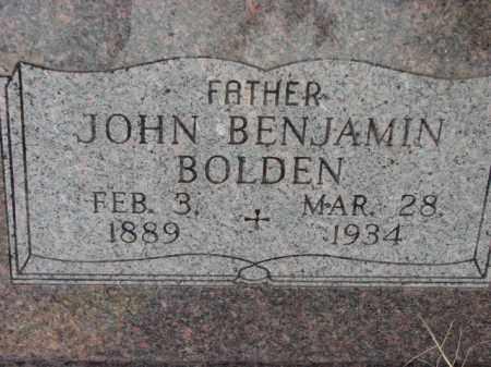 BOLDEN, JOHN BENJAMIN - Poinsett County, Arkansas | JOHN BENJAMIN BOLDEN - Arkansas Gravestone Photos