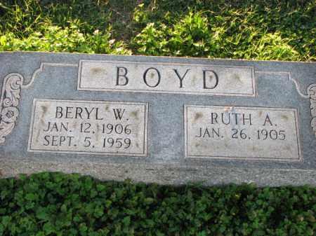 BOYD, BERYL W. - Poinsett County, Arkansas | BERYL W. BOYD - Arkansas Gravestone Photos