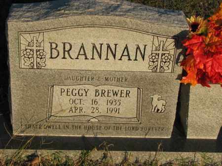 BREWER BRANNAN, PEGGY - Poinsett County, Arkansas | PEGGY BREWER BRANNAN - Arkansas Gravestone Photos
