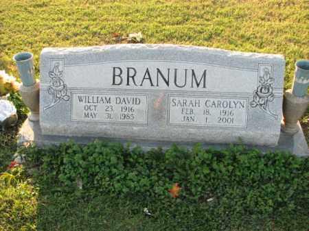 BRANUM, SARAH CAROLYN - Poinsett County, Arkansas   SARAH CAROLYN BRANUM - Arkansas Gravestone Photos