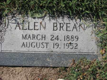 BREAN, ALLEN - Poinsett County, Arkansas | ALLEN BREAN - Arkansas Gravestone Photos