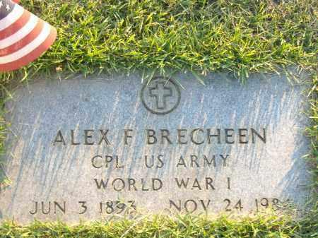 BRECHEEN  (VETERAN WWI), ALEX F - Poinsett County, Arkansas | ALEX F BRECHEEN  (VETERAN WWI) - Arkansas Gravestone Photos