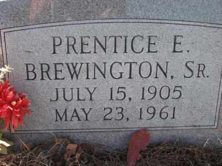 BREWINGTON, PRENTICE E., SR. - Poinsett County, Arkansas | PRENTICE E., SR. BREWINGTON - Arkansas Gravestone Photos