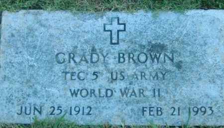 BROWN  (VETERAN WWII), GRADY - Poinsett County, Arkansas | GRADY BROWN  (VETERAN WWII) - Arkansas Gravestone Photos