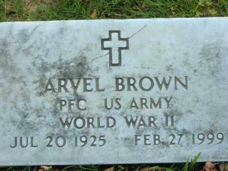 BROWN  (VETERAN WWII), ARVEL - Poinsett County, Arkansas   ARVEL BROWN  (VETERAN WWII) - Arkansas Gravestone Photos