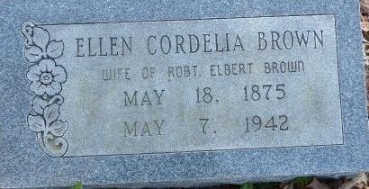 BROWN, ELLEN CORDELIA - Poinsett County, Arkansas | ELLEN CORDELIA BROWN - Arkansas Gravestone Photos