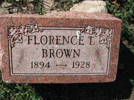 BROWN, FLORENCE T. - Poinsett County, Arkansas | FLORENCE T. BROWN - Arkansas Gravestone Photos