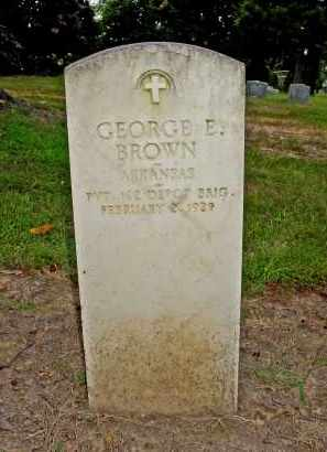 BROWN (VETERAN WWI), GEORGE E. - Poinsett County, Arkansas | GEORGE E. BROWN (VETERAN WWI) - Arkansas Gravestone Photos