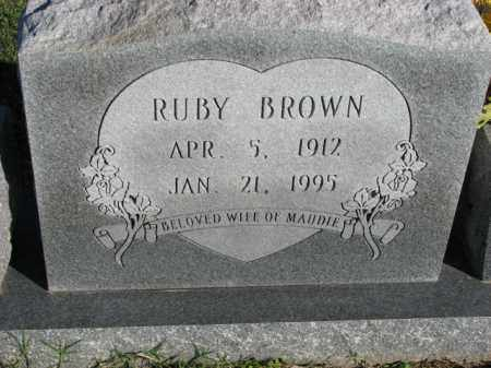 BROWN, RUBY - Poinsett County, Arkansas | RUBY BROWN - Arkansas Gravestone Photos